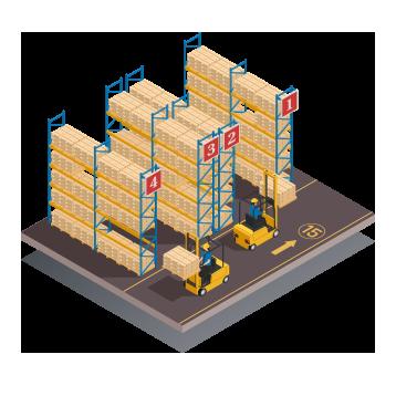 Open Warehouse racks